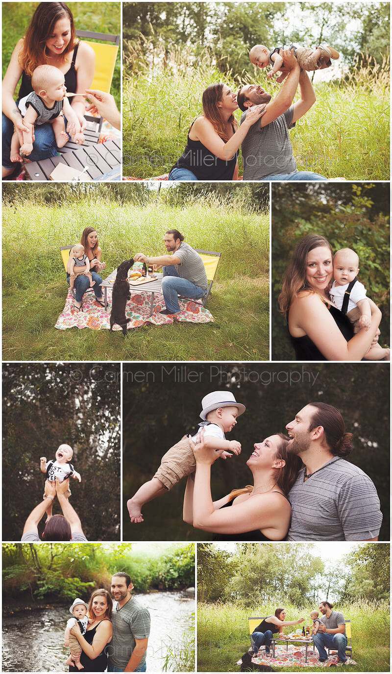 baby boy outdoor session bothell