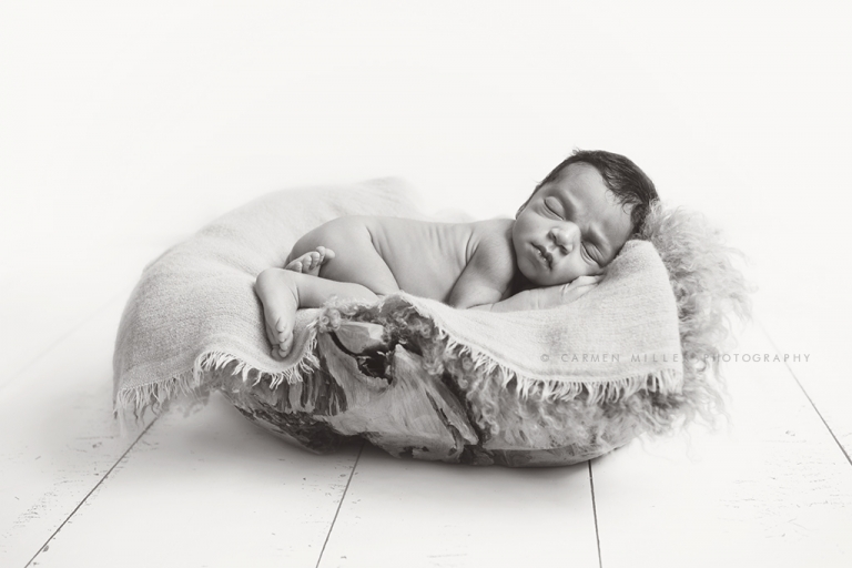 newborn girl black and white seattle photographer