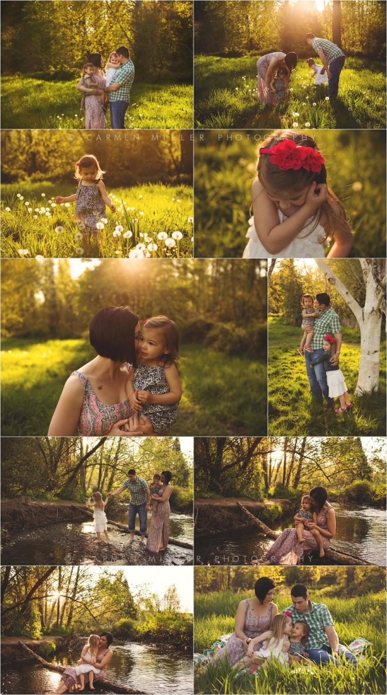 family photos in bothell park