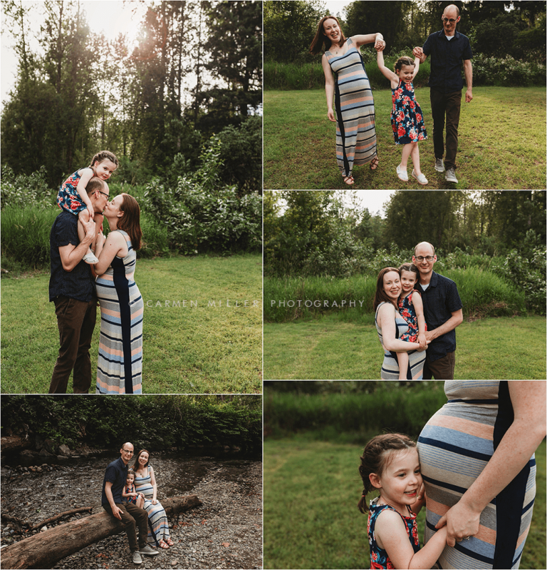 seattle maternity photographer outdoor session